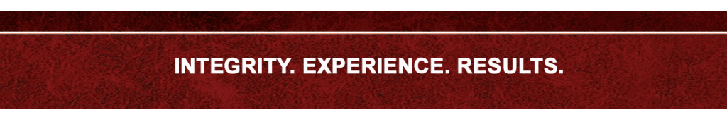 INTEGRITY - EXPERIENCE - RESULTS